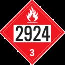 De Leone SDP453 UN 2924 Flammable Liquid, Corrosive, n.o.s. - Flammable Liquid, 10¾