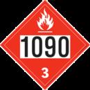 De Leone SDP508 UN 1090Acetone - Flammable Liquid, 10¾