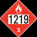 De Leone SDP515 UN 1219 Isopropanol - Flammable Liquid, 10¾