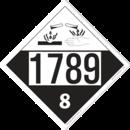 De Leone SDP531 UN 1789 Hydrochloric Acid, Solution - Corrosive, 10¾