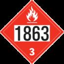 De Leone SDP539 UN 1863 Fuel, Aviation, Turbine Engine - Flammable Liquid, 10¾