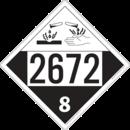 De Leone SDP547 UN 2672 Ammonia Solutions - Corrosive, 10¾