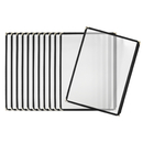 Aspire 12/36 Packs Clear Single Pocket Menu Cover Holds 8.5