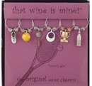 Tennis Ace Wine Glass Charms – Hand Painted