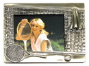 Pewter Tennis Picture Frame large Racquet/Net