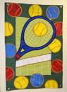 House Flag Racquet/Net/Balls