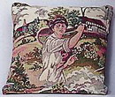 Tapestry Pillow-Lady w/Racquet