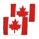 Tourna Canadian Flag Wristbands