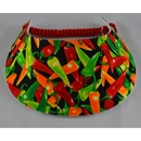 Foam Visor-Print-Peppers-Black W/Multi Colored Peppers