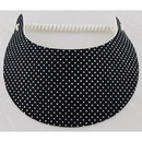 Black and White Polka Dots Coil Visor