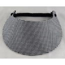 Black and White Houndstooth Coil Visor