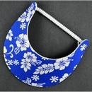 Blue Hibiscus Flower Coil Visor