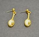 Tennis Racquet Dangle Earrings