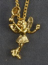 Tennis Angel Necklace, Gold Plated