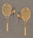 Racquet Earrings, Gold