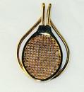 Gold Plate Racquet Money Clip