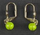 Tennis Earrings Silver w/Color Ball
