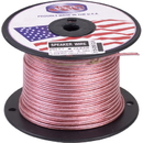 Wireless Solutions - 18ga 2 conductor Clear Speaker wire/1000 ft.