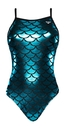 The Finals 7828A Women's Mermaid Foil Funnies Wing Back Swimsuit