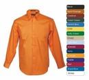 Tiger Hill Men's Long Sleeve 100% Cotton Premium Peach Twill Shirt