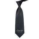 TOPTIE Custom Wedding Ties Sublimation Embroidered Personalized Initial Neckties for Groomsmen