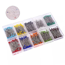 Muka 1000PCS Sewing Pins 1.5 Inch Multicolor Glass Ball Head Pins Straight Quilting Pins (10 Colors, 38mm)
