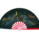 Tiger Claw Black Bamboo Fan