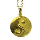 Tiger Claw Yin-Yang Gold Necklace