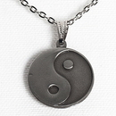 Tiger Claw Yin-Yang Silver Necklace