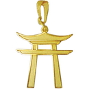 Tiger Claw Torii Gold Necklace