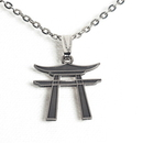 Tiger Claw Torii Silver Necklace