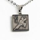 Tiger Claw Budo Silver Necklace