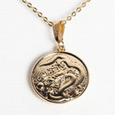 Tiger Claw Dragon Gold Necklace