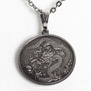 Tiger Claw Dragon Silver Necklace