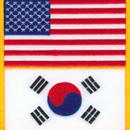 Tiger Claw U.S. & Korea Flag Patch (3 1/2