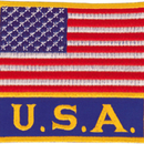 Tiger Claw American Flag with USA Patch (3 1/2