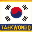 Tiger Claw Korean Flag Taekwondo Patch (3 1/2