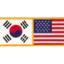 Tiger Claw Korean & U.S. Flag Patch (4 3/4