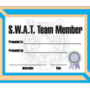 Tiger Claw S.W.A.T. Team Certificate