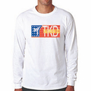 Tiger Claw Red, White, and Blue TKD Long Sleeve T-Shirt