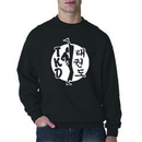 TKD, Kicker on white circle Sweatshirt