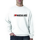 Tiger Claw I ❤ Martial Arts Sweatshirt