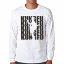 Tiger Claw Kungfu Silhouette Long Sleeve T-Shirt