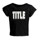 TITLE Boxing KTA1 Raglan Crop Top