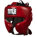 TITLE Blood Red Leather Sparring Headgear