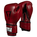 TITLE Blood Red Leather Sparring Gloves