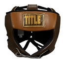 TITLE Boxing Vintage Leather Training Headgear