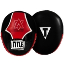 TITLE Boxing ARRPM BK/RD Air Vent Technology Punch Mitt Set