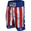 TITLE Boxing BTUSA American Flag Boxing Trunks