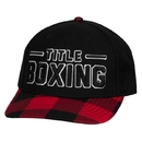 TITLE Boxing Plaid Flat Bill Adjustable Cap